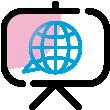 Icon englische Präsentation Powerpoint